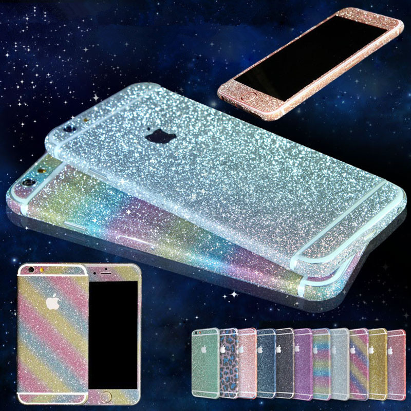 Bling Sticker Case For Apple iPhone 6 6s / 6 6s Plus Full Body Decal Skin Bling Glitter Sticker Phone Cover For iPhone 6 6S(China (Mainland))