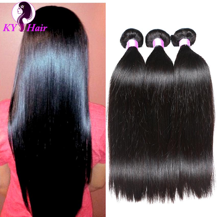 Malaysian Straight Hair 3 Bundles Natural Black Rosa Hair Products Grade 6A Malaysian Hair Weave Bundles Silky Human Hair(China (Mainland))