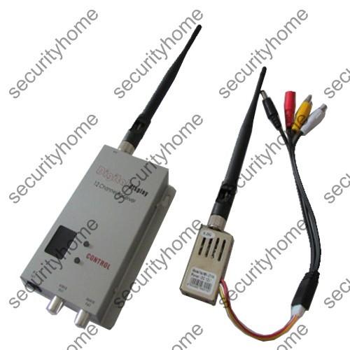Audio Video AV Wireless Transmitter Receiver 1.2Ghz 1000mW 12 Channels CCTV Monitor RC Plane 1.2G FPV Radio Remote Control(China (Mainland))