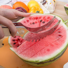 Buy Fruits Watermelon Slicer Cutter Server Corer Scoop Stainless Steel Tool Slice CN for $2.47 in AliExpress store
