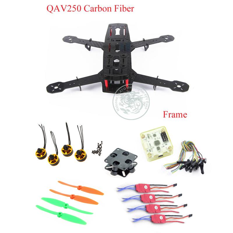 Mini QAV250 ZMR250 3K Carbon Fiber Frame DIY Quadcopter fpv 1806 2400KV Brushless Motor 12A Esc CC3D 5030 propeller tarot