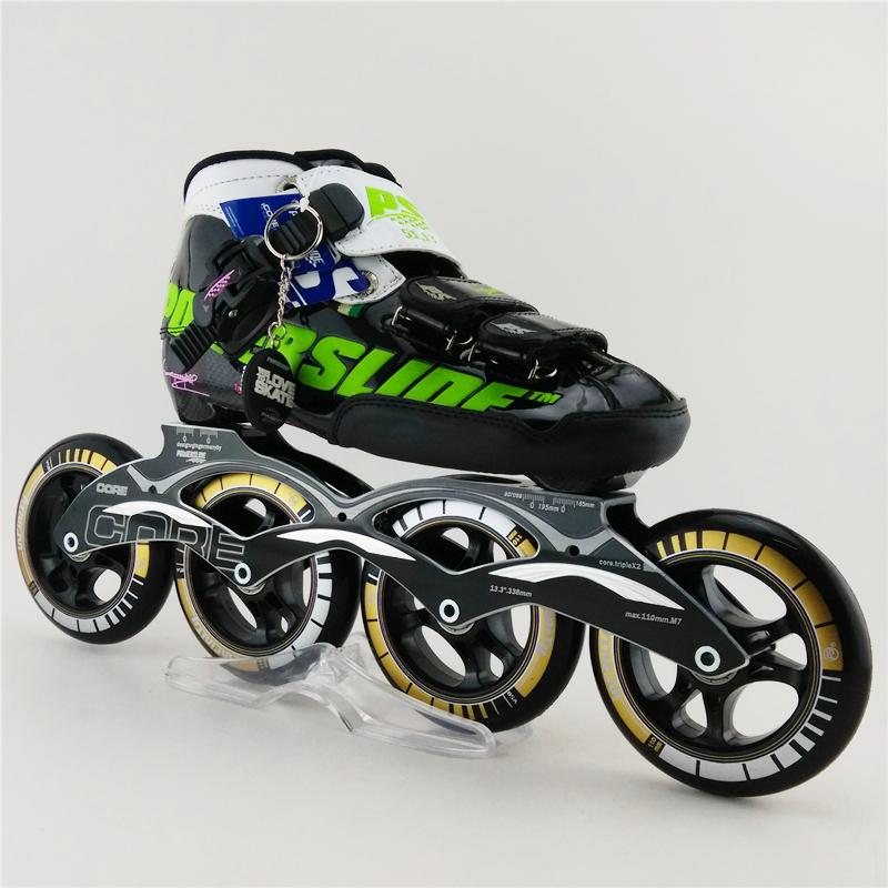 Professional 4 Wheel Inline Skates Roller Patins Adults Inline Roller Skates Speed Skates 4X100mm Wheels Inline Skates Shoes(China (Mainland))