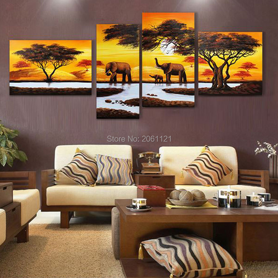 Online kopen wholesale abstract elephant oil painting canvas uit ...