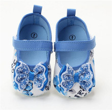Hot sell!Europe and the United States fashionable cotton baby soft bottom anti-slip toddler shoes baby girl shoes(China (Mainland))