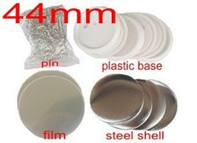 Badge maker supplies 44mm blanks 100sets(China (Mainland))