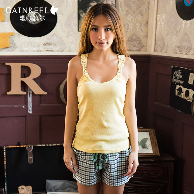 Clearance song Riel fashion plaid cotton lovers sleepwear casual and comfortable clothes at home men and