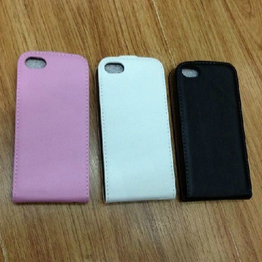 100pieces/lot, New Arrival  Genuine Leather Vertical Flip cover with magnetic snap Case  for iPhone 5c -free shipping