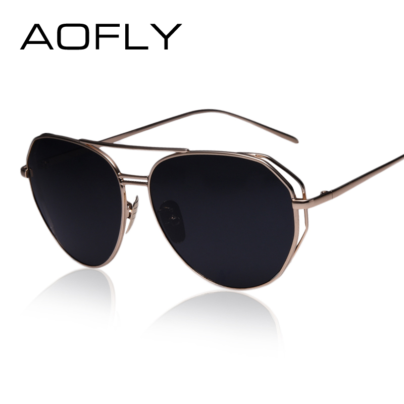 Vintage Big Frame Glasses : AOFLY New Fashion Big Frame Glasses Men Women Sunglasses ...
