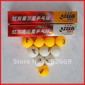 DHS Table Tennis Balls 40mm Three Stars International Table Tennis Balls Free Shipping 30pcs/lot(China (Mainland))