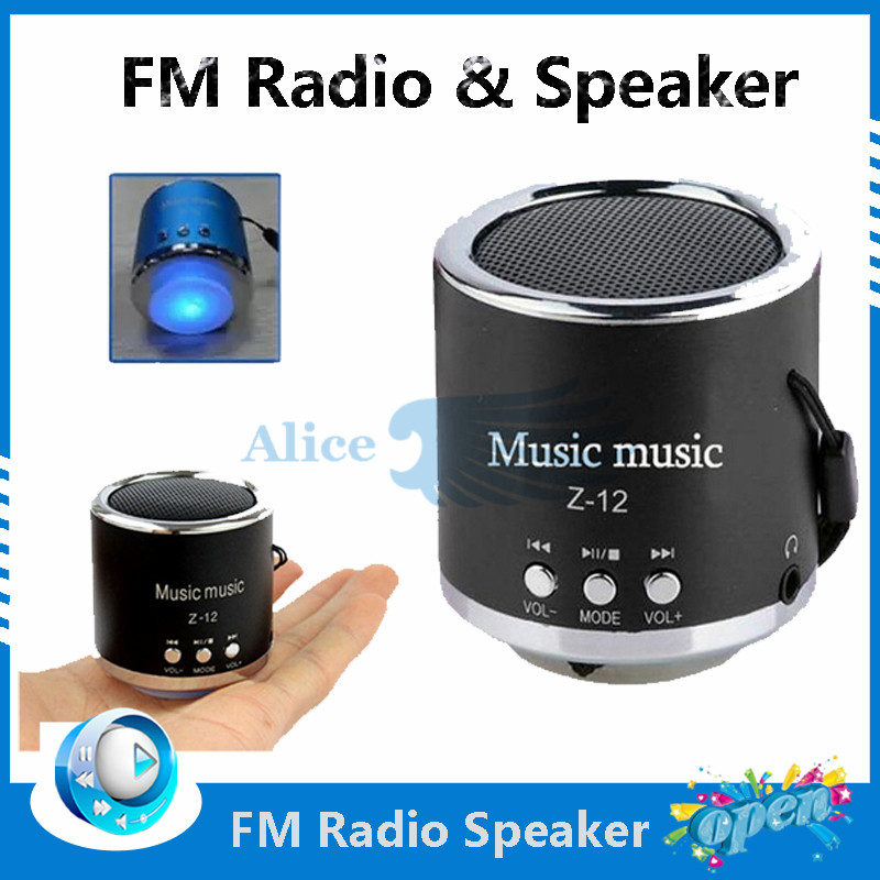 Free shipping to French 2016 new Handfree Wired Portable Mini Speaker Subwoofer FM Radio USB Micro SD TF Card MP3 Player.(China (Mainland))