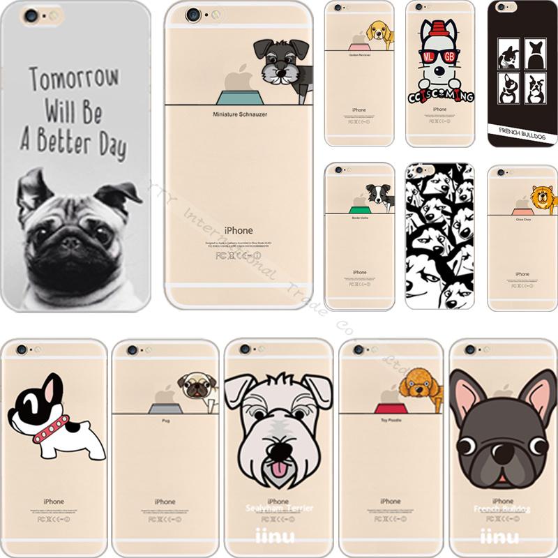Elegant Pattern Haba Dogs Silicon Phone Cover Case For Apple iPhone 6 iPhone 6S iPhone6 iPhone6S Cases Shell DLX XKC HC NTA(China (Mainland))
