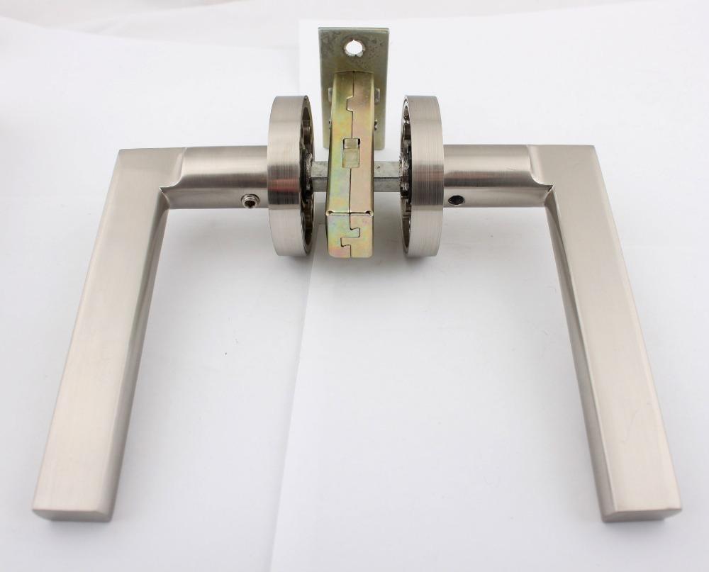 A1211E9 Satin Nickel Aluminum Door Handles Puxadores Locks Knobs With Latch Passage Set For Passage Doors From Door MHL-03(China (Mainland))