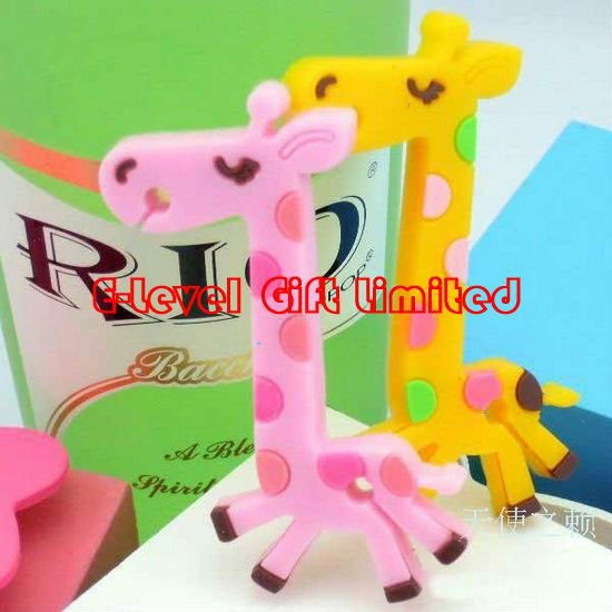 DHL ,25,,Silicone Rubber Winder lovely giraffe winder,earphone wire manager,bobbin winder - E-Level Gift Limited store