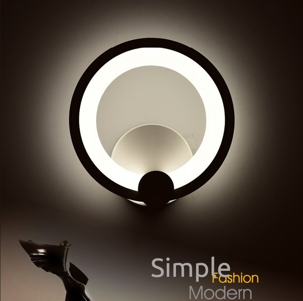 Фотография Simple Modern Wall Sconce Creative Acrylic LED Wall Light For Home Lighting Bedside Wall Lamp Integrated Lampe Murale Lampara