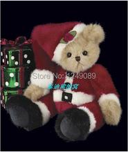 Free shipping 10 inch Bearington teddy bear with chrismas hat soft plush bear toys creative chriamas gift