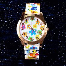 2015 regalo de los niños digitales niñas reloj lindo de la historieta relojes cuarzo Relogio Feminino alta calidad del envío