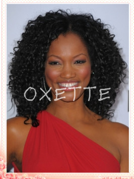 oxette free shipping afro kinky curl half wig human hair