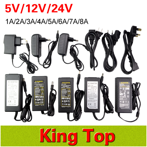 EU/US/UK/AU Plug DC 5V/12V/24V Power Supply 1A/2A/3A/4A/5A/6A/7A/8A Power Adapter Switching Charger For 5050 3528 5630 Led Strip<br><br>Aliexpress