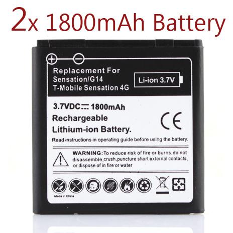2 x 1800Mah Battery For HTC EVO 3D Sensation G17 Z710e Commercial Bateria For HTC G14,Sensation HTC G17,Z710e HTC Shooter(China (Mainland))
