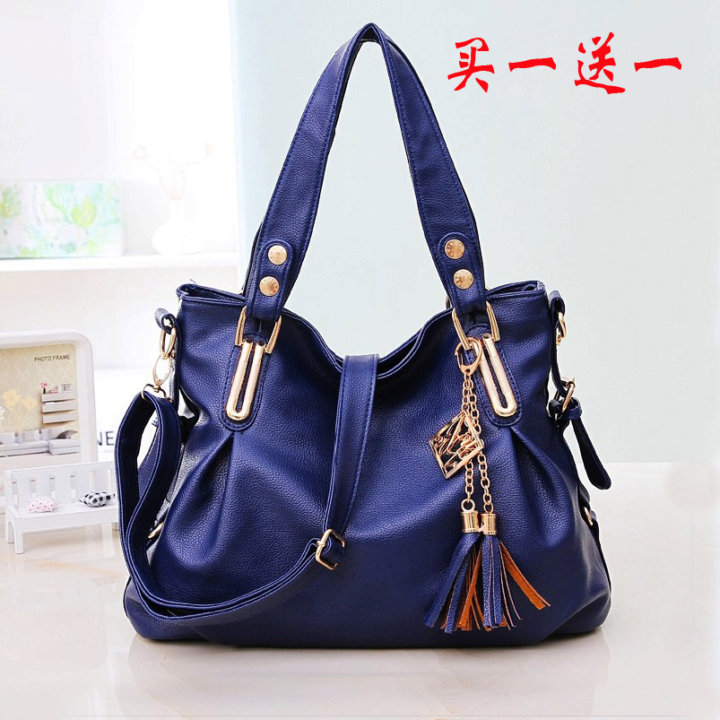 2014 womens hobos handbags shoulder leather female bags women's casual fashion tassel winter cross-body one black bag - fashional accessories store