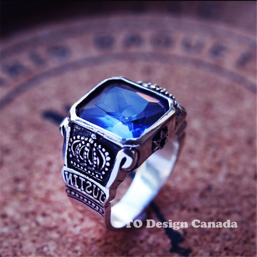 The gallery for --> Blue Stone Rings For Men Silver Rings For Men With Blue Stone
