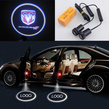 Ghost Shadow Light Case For Dodge CREE LED Car Logo Projector Car Decorative Accessories Emblem Welcome Door Light 3D Laser Lamp(China (Mainland))