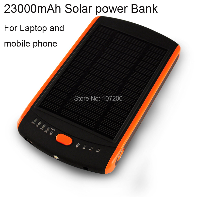 23000mAh Solar power bank Sony 6.0X4.25mm laptop, 3.0X1.0mm Acer Ultrabook , charger samsung,hp,dell,Asus - Lino Electronics Mall store