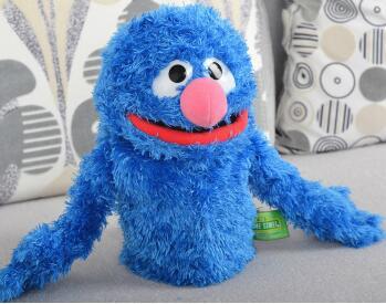 high quality Sesame street toy Big Bird Cookie hand puppet doll30cm(11.81'')classical plush toy children birthday present gift(China (Mainland))