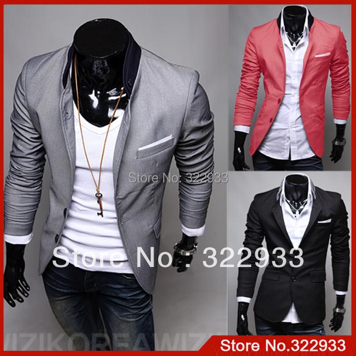 ba7833d44d1b Купить новые моды пиджаки мужчин, лучшие Брендовые Мужские костюмы ...