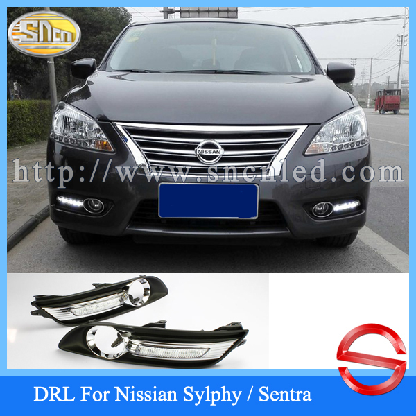Discount !!! Car accessories Hottest LED Daytime Running Light LED DRL For Nissan Sylphy Sentra 2012 2013 2014 2015(China (Mainland))