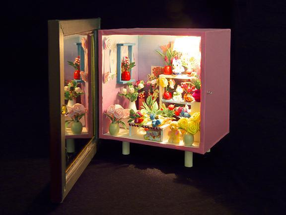 Diy mini lamp with dust box handmade toy doll house-inModel Building ...