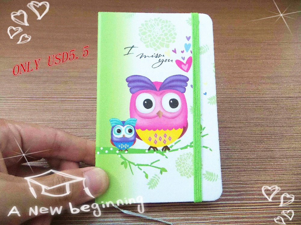 New style Fashion Cute Charming Mini Portable owl hard cover Paper Diary Notebook school Memo Note Book notepad free shipping<br><br>Aliexpress
