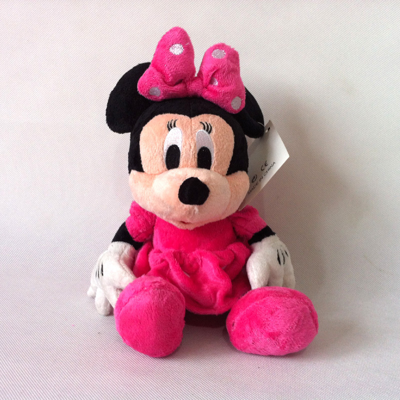 1pc 30cm Mickey Mouse Red/pink Minnie Mouse Toys Soft Stuffed Animals Plush Toy dolls Free shipping(China (Mainland))