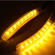 Universal Car 2PCS/Pair 9 SMD Amber/White LED Car Light Source Auto Rearview Mirror FPC Turn Signal Lights Lamp New Arrival(China (Mainland))
