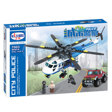 Weile 7003 City SWAT Series Police Helicopter Chase 5piece Minifigures Building Block Toys Best Legoelieds Toys