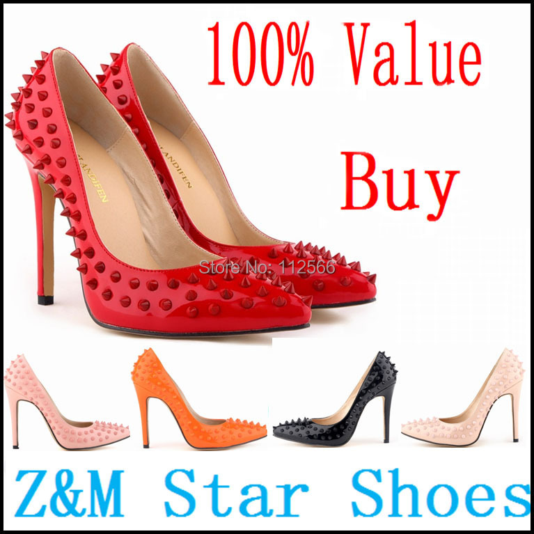 Cheap Fashion Shoes Wholesale Women Fashion Rivets Pumps