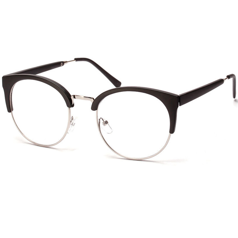Half Frame Cat Eye Reading Glasses optical Eyewear Vintage ...