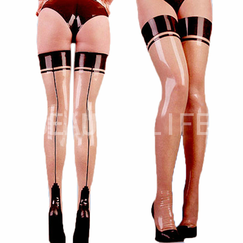 Latex stocking w/ slim line show yousexy, 100% handmade&amp;natual, strips , backseam, cuban footОдежда и ак�е��уары<br><br><br>Aliexpress