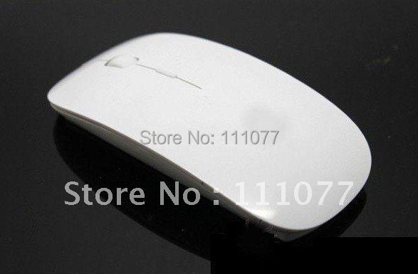 Hot Sale Promotion 2.4 GHz White Wireless USB Optical Mouse for APPLE Macbook Mac Mouse, Free & Drop Shipping(China (Mainland))
