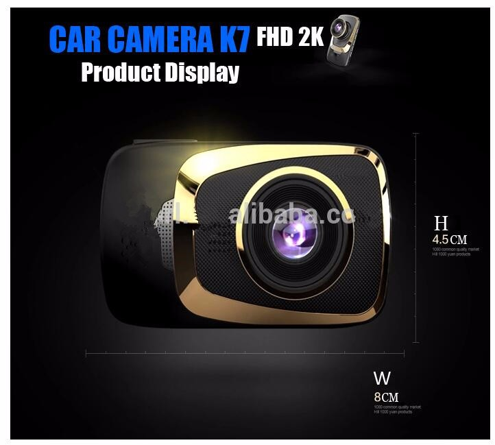 Full HD 2304*1296P Ambarella A7 Car Vehicle parking DVR AUTO CAR BLACK BOX Support G-sensor,GPS,Motion Detection,Fatigue Warning