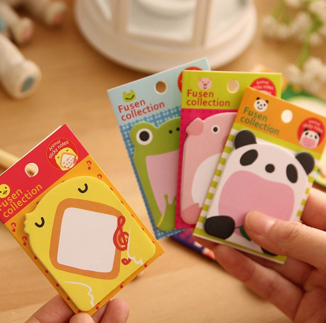 Stationary Papelaria 2015 New Arrival Brand free Shipping Hot Sales Cute Lovely Animals Memo Pad Sticky Note Sticker Label Paper(China (Mainland))