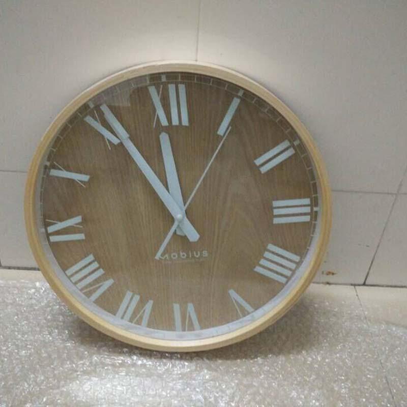 England Style Birch Wood Wall Clock(China (Mainland))