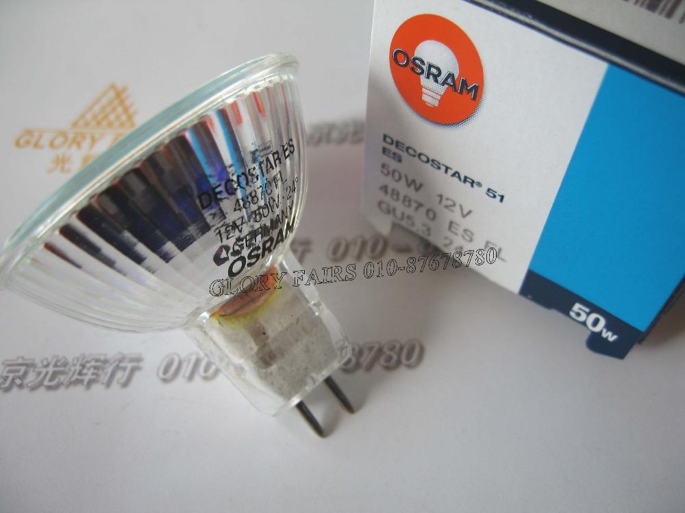 OSRAM Decostar ES,48870FL 12V 50W bulb,24 degree dichroic 51 mm GU5.3,Energy saver 48870 FL 12V50W halogen lamp(China (Mainland))