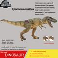Hot toys brownWalking Tyrannosaurus Rex Simulation model Jurassic park dinosaur action figure Souptoys