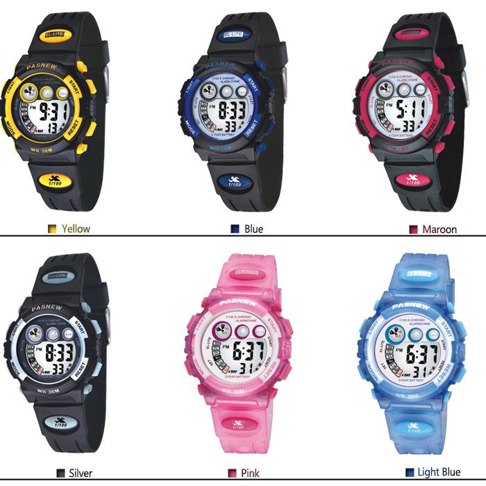 Casual Pashion Fashion 3ATM Waterproof Children Boys/Girls/Kids Sports Digital Watch Wrist watches with Alarm/Chronograph/Date(China (Mainland))