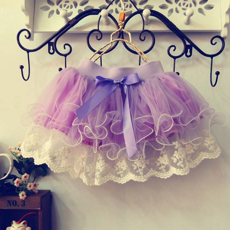 Retail children lace skirt Baby tutu skirt 2015 pink cake tutu girls skirts 2T-8 saia ballet skirt fantasia free shipping(China (Mainland))