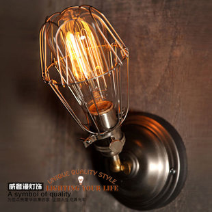 Copper Retro Wall lamps American country bedside lamp mirror front Creative Arts aisle lights nostalgia - LIGHTING UR LIFE store