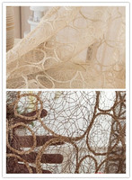 High quality birds' nest pattern window screens decorative sheer curtain panel for living room/sitting room