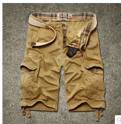 New Brand Mens Casual Camouflage Loose Cargo Shorts Men Large Size Multi-pocket Military Short Pants Overalls 4 colorОдежда и ак�е��уары<br><br><br>Aliexpress