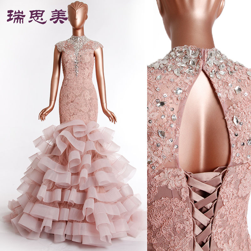 Online buy wholesale mermaid style wedding dresses feather for Wedding dress with feathers on bottom